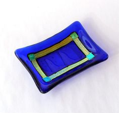 Fused Glass Dish - Soap Dish, Jewelry Dish or Kitchen Dish by GreenhouseGlassworks, $18.00 #glass #bathroom
