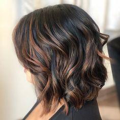 Black Hair With Brown Highlights, Brown Hair Cuts, Hair Color Highlights, Hair Color For Black Hair, Brown Hair Colors, Copper Highlights, Blonde Light Brown Hair, Brown Hair Balayage, Bayalage