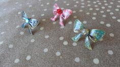Items similar to Cute bow rings. Adjustable bow rings in many colors, decoupage, acrylic paint, liquid glass. on Etsy Bow Rings, Decoupage Paper, Cute Bows, Acrylic Colors, Glitter, Brooch, Unique Jewelry, Glass, Handmade Gifts