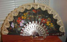 lace folding fan