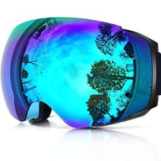 424cd3351 Zionor X4 Ski Snowboard Snow Goggles Magnet Dual Layers Lens Spherical  Design Anti-fog UV Protection Anti-slip Strap for Men Women Review