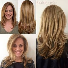 Remember when Rachel got her highlights and base touched up? She decided she wanted to lighten up a bit for the Spring, and I am loving the result. Little adjustments can make a BIG change!  #hairbyhamlet #bellasalonatx #bellasalonaustin #whotel #austin #atx #atxstyle #blonde #highlights #schwarzkopf #schwarzkopfpro #oribe #randco #blowout #leatherjacket #toocool #transitions