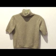 TALBOTS TURTLE NECK SWEATER Awesome Silver glittery Grey Turtleneck Sweater  Gently Pre-loved  In Excellent  Condition . Great for the holidays lady's ! New Year's Eve Talbots Sweaters