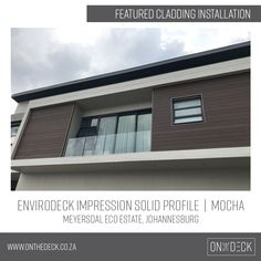 Envirodeck composite decking is a well-known, local wood plastic composite brand and a leading supplier of environmentally friendly decking materials. Decking Material, Composite Decking, Cladding, Mocha, Screens, Profile, Create, Wood, Outdoor Decor