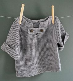 Discover thousands of images about Resultado de imagem para tricot knit baby Baby Knitting Patterns, Knitting For Kids, Crochet For Kids, Baby Patterns, Free Knitting, Crochet Baby, Knit Crochet, Baby Pullover Muster, Weaving