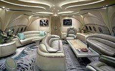 interior, private jet
