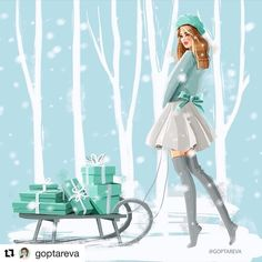 I love Runway Fashion Shows & Artists' fashionillustrations posted. Hope you enjoy the Collections. New IG account Christmas Drawing, Christmas Love, Christmas Pictures, Vintage Christmas, Xmas, Illustration Noel, Christmas Illustration, Azul Tiffany, Jolie Photo