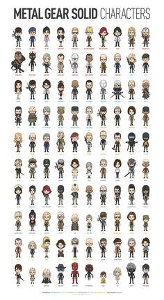 All the MGS characters made by Azusa Tanaka