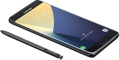 Galaxy Note7 lying flat with S Pen