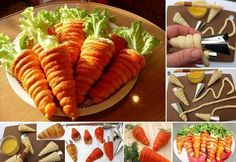 How to DIY Delicious Salad in Pastry Dough Carrot | www.FabArtDIY.com