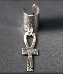 ankh jewelry | Ear Cuff Sterling Silver Ankh Jewelry Afrocentric Ancient Egyptian