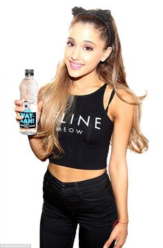 Ariana Grande Hi i am still waiting for y followers! if you follow me i will follow you! of course i love all of you my fans! i am a healf freak i love water! i will tell you my favorite song i wrote was break free and baybe i