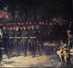 """1896-""""The March of Time"""" by Henry Sandham"""