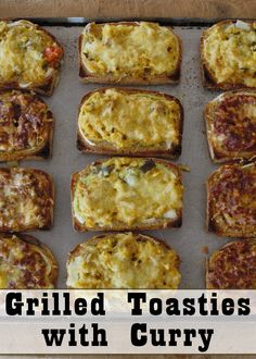 Leftover curry gives these tasty grilled toasties an extra kick!