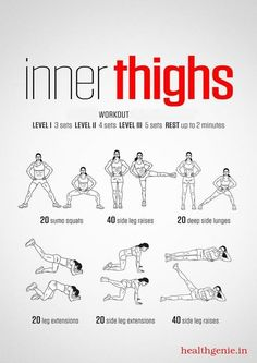 In thighs workout. Women& fitness tips. In thighs workout. Womens fitness tips. Fitness Workouts, Fun Workouts, Yoga Fitness, Fitness Motivation, Health Fitness, Female Motivation, Killer Leg Workouts, Beginner Crossfit Workouts, Fitness Diet