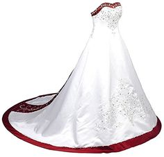 DWU Long Black White Tulle Gothic Wedding Dresses Vintage Bridal Ball Gowns WhiteRed US 22W ** Want additional info? Click on the image.