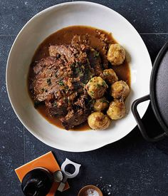 Australian Gourmet Traveller recipe for beef, beer and dumplings based on a recipe for carbonade.