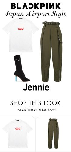 """""""Blackpink Airport Style: Jennie"""" by taniamendes100 on Polyvore featuring Louis Vuitton, Alexander Wang and Vetements"""