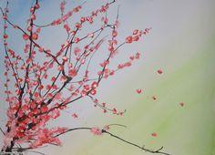 Chinese Cherry Blossom Tree   Chinese Cherry Blossom Tree Drawing Pic 14 - kooreng.com