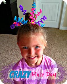 Blue Skies Ahead: Crazy Hair Day Ideas! Pipecleaners...