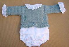 tutoriales jersey de bebé, video e instrucciones, baby knitting