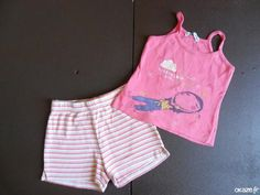 Ensemble bebe rose - Ensemble bebe rose Debardeur + Short