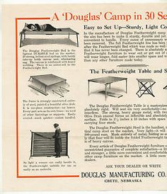 Vintage Duluth Tent and Awning Douglas Featherweight C&ing Furniture Brochure  sc 1 st  Pinterest & Vintage-Duluth-Tent-and-Awning-Douglas-Featherweight-Camping ...