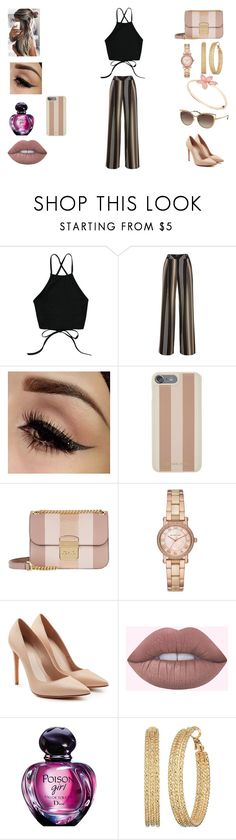 """ROSE AND BLACK"" by amamisonodolce on Polyvore featuring moda, Michael Kors, Alexander McQueen e GUESS"