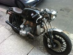 classic BMW bike.