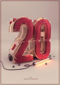 Type design /// 100 Creativ numberz /// on Behance Design 3d, Font Design, Type Design, Motion Design, Typography Fonts, Typography Design, Lettering, Typography Inspiration, Graphic Design Inspiration
