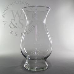 "10.8"" Tall Glass Bella Vase - WholesaleFlowersAndSupplies.com"