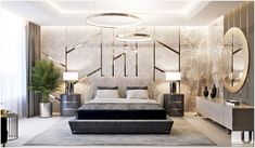 Bedroom decor always needs a luxurious lamp. Discover the perfect lighting fixture for your interior Modern Luxury Bedroom, Luxury Bedroom Design, Master Bedroom Design, Luxury Interior Design, Contemporary Bedroom, Luxurious Bedrooms, Home Decor Bedroom, Master Bedrooms, Bedroom Ideas