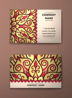 Mandala Business Card http://graphicdesignjunction.com/2016/05/business-card-templates-design/