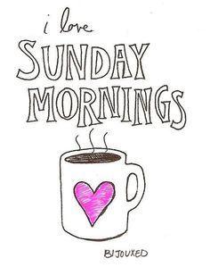 Manhã de domingo!