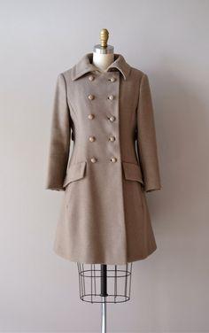 vintage 1960s Ardennes wool coat     #1960s #mod  #vintagecoat