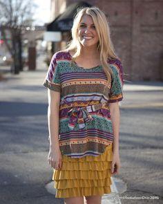 Bring On The Frill Layering Skirt | Mustard