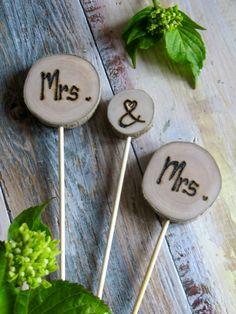 Wedding Cake Topper Mrs