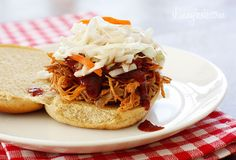 Slow Cooker Pulled Pork -- Pulled pork sandwiches are always a crowd pleaser, and this recipe is certainly no different. #Pork #SlowCooker