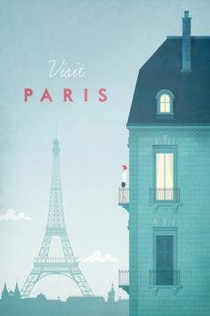 Travel poster - Henry Rivers - Paris