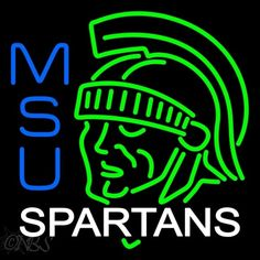 Michigan State Spartans Alternate 1978 1982 Logo NCAA Neon Sign .Makes a great gift, High impact, Eye catching, with Backing Metal Frame or ACP 1 year warranty.