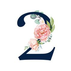 Navy Floral Number - digit 2 with flowers bouquet composition. Unique collection for wedding invites decoration & other concept ideas. Wallpaper Iphone Disney, Wallpaper Backgrounds, Wolf Tattoo Sleeve, Purple Wedding Centerpieces, Monthly Baby Photos, Flower Alphabet, 2 Logo, Plant Illustration, Flower Frame