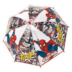 Paraguas antiviento burbuja transparente Spiderman Marvel Thwip apertura seguridad 42cm - http://comprarparaguas.com/baratos/marvel/paraguas-antiviento-burbuja-transparente-spiderman-marvel-thwip-apertura-seguridad-42cm/
