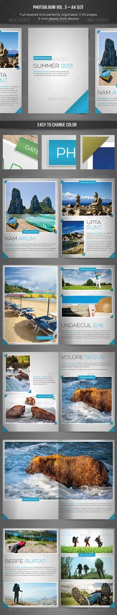 Photo Album vol. 3 – InDesign Template - Photo Albums Print Templates