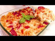 La prepari in 5 MINUTI, in forno TUTTO A CRUDO #276 - YouTube Greek Recipes, Quick Recipes, Quick Easy Meals, Veggie Recipes, Easy Dinner Recipes, My Recipes, Pasta Recipes, Italian Recipes, Healthy Recipes