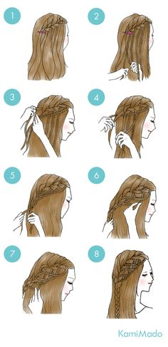 18 Trendy Braids French Side If you're trying to find hairstyles that could Sporty Hairstyles, Cute Simple Hairstyles, Braided Hairstyles, Cool Hairstyles, Curly Crochet Braids, Curly Hair Braids, Medium Hair Styles, Curly Hair Styles, Under Braids