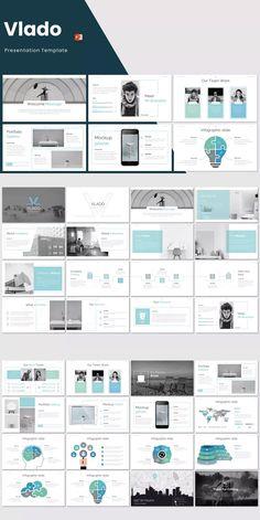 Vlado - Powerpoint Template by inspirasign on Envato Elements Brand Presentation, Presentation Design Template, Powerpoint Presentation Templates, Presentation Slides, Design Templates, Powerpoint Images, Powerpoint Slide Designs, Powerpoint Tips, Flow Chart Template