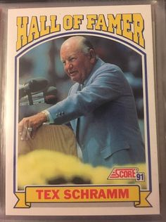 1991 Score Hall of Famer Tex Schramm 673 Cowboys Near Mint Combined s H | eBay
