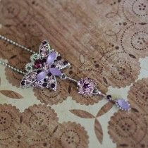 Butterfly necklace £14.25 http://www.accessories-boutique.com/jewellery/necklaces/pink-butterfly-necklace.html