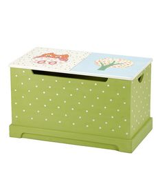 Green & Pink Owl Toy Chest