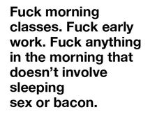 I have to say that I approve. Never liked mornings; never will.
